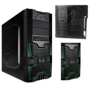 Gabinete PC Gamer Warrior Preto e Verde Grande Multilaser Ga154