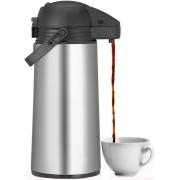 Garrafa Térmica Inox Utensílios De Cozinha Grande 1,9 Litros Corta-pingos Café Água Quente Frio Expressar Sanremo