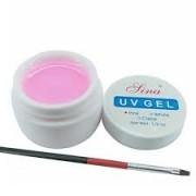 Gel Pinck UV Para Unhas Tips Fibra Acrigel Banho de Gel