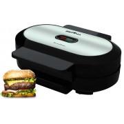 Grill Máquina De Hambúrguer Gourmet Antiaderente Aço Inox Prático Rápido 127V Preta Britânia Lançamento