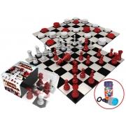 Jogo De Xadrez e Damas Raciocínio 2 Em 1 Lógica Moderno Maior 7 Anos Menino Menina Bolhas De Sabão Lançamento Gulliver Activity