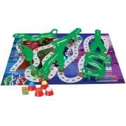 Jogo Tabuleiro Pistas E Atalhos Pj Masks Brinquedo Infantil Desmontável Pista 3D Menino Menina Lançamento Elka