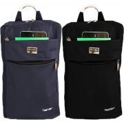 f1a9168a7 Kit 2 Mochilas Jeans Feminina Azul Preta Fashion Social Cabo De Aço