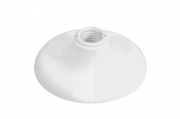 Kit 6 peças Plafon Plafonier Branco P/1 Lâmpada Soquete Porcelana