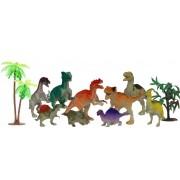 Dinossauros Infantil 9 Unidades Kit Jurassic Word Diversos Divertido Pequeno Acessórios Meninos Zoop Toys Novos