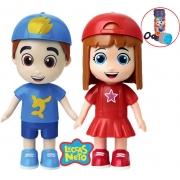 Kit Boneco Luccas Neto Boneca Gi Aventureira Brinquedo Infantil Bolhas De Sabão Menino Menina Divertido Resistente Certificado Inmetro Elka