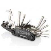 Canivete De Ferramentas Para Bicicleta 15 Funções Em ABS e Aço Preto Multilaser Atrio BI032