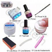 Kit Completo Para Unhas em Gel c/ Forno UV 110v