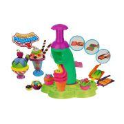 Kit Conjunto Mega Sorveteria Zoop Toys Máquina De Sorvete Brinquedo Infantil Massinha Divertida Modelar Inmetro Original