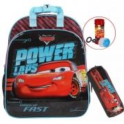 Kit Conjunto Mochila Escolar Infantil Bolhas De Sabão Masculina Carros Costas Grande Resistente Menino + Estojo Simples 1 Compartimento Dermiwil