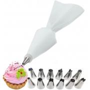 Decorador De Bolos Cupcake 13 Peças Saco Confeiteiro Fácil Manuseio Top House Utilidades Novo