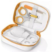 Kit Higiene Bebê Tesoura Lixa Pente Escova Cortador Necessarie Multikids BB018