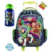 Kit Mochila Escolar Toy Story Brilha Escuro Infantil Menino Rodinhas Garrafa Alumínio Dermiwil