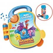 Livro Infantil Musical Galinha Pintadinha Meu Primeiro Livrinho Elka Atóxico Menino Menina