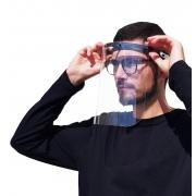 Máscara De Proteção Facial Viseira Transparente Contra Respingo Reutilizável Com Ajuste Rasul Regulável Nova