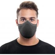 Mascara N95 Pff2 Fiber Knit Kn95 Reutilizavel 3D Antiviral 15 Filtros Descartáveis Anatômica Esportiva Fitness Tamanho G Lavável Adulta Cinza Unissex