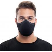 Mascara N95 Pff2 Fiber Knit Kn95 Reutilizavel 3D Antiviral 15 Filtros Descartáveis Anatômica Esportiva Fitness Tamanho G Lavável Adulta Preto Unissex