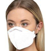 Mascara N95 Descartável Cirurgica Protecao Respiratória Hospitalar Protetora Facial Clip Nasal Ksn Lançamento Branco Novo