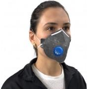 Mascara N95 Descartavel De Proteção Facial Com Valvula Filtro Respirador Ajustável Segurança Pff2-S Clipe Nasal Inmnetro Ksn