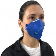 Mascara N95 Descartavel De Proteção Facial Com Valvula Filtro Respirador Ajustável Segurança Pff2 Clipe Nasal Inmnetro Ksn