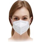 Mascara Pff2 Descartavel Kn95 Proteção Facial Respiratória 5 Camadas Hospitalar Clip Nasal Branca 95% De Filtragem Plasart