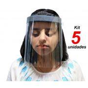 Máscaras De Proteção Facial 5 Unidades Viseira Proteção Transparente Respingo Com Elástico