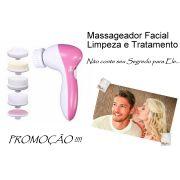 Massageador De Esfoliação E Limpeza  Facial 5x1 Ae 8782