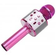Microfone Infantil Karaokê Show Instrumento Musical De Brinquedo Bluetooth, USB, P2, AUX e SD Ajuste Eco Entrada Para PenDrive + 6 Anos Colorido Toyng