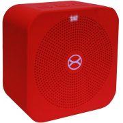 Mini Caixa De Som Bluetooth Portátil Bateria Recarregável 5W Vermelha Pequena Entrada Cartão TF Auxiliar Moderna Atende Ligação Xtrax Pocket