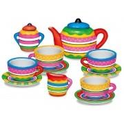 Mini Conjunto De Chá De Porcelana Art & Craft Para Colorir Menina Infantil Estimula A Criatividade Tinta Guache Lavável Zoop Toys