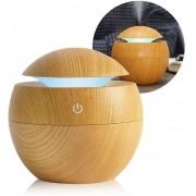 Umidificador De Ar Purificador Luminária De Mesa Led Liso 7 Cores Usb Difusor De Aromas De Ambiente