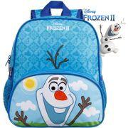 Mochila Bolsa Escolar Infantil Pequena Olaf Frozen 2 Elza Ana Menino Disney Menina Azul Alça De Costa Dermiwil