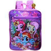 Mochila Bolsa Infantil Escolar Feminina My Little Pony Costas Resistente Grande Rosa Menina Lançamento Dermiwil