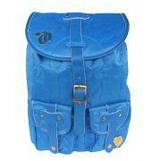 Kit Mochila Capricho Love Blue  Azul + Carteira Doleira Feminina Moderna Original
