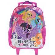 Mochila Escolar Infantil Carrinho Rodinha My Little Pony Menina DMW