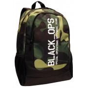 Mochila Escolar Notebook 15.6 Camuflada Juvenil Masculina Resistente Black OPS Lançamento DMW