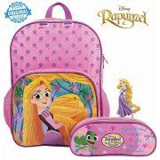 Mochila Escolar Rapunzel Costas Infantil Menina Estojo Resistente Dermiwil