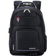 Mochila Executiva Notebook 15,6 Preta Tablet Impermeável Grande Cabo de Aço Entrada USB e Fone Maideng