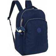 Mochila Feminina Escolar Notebook Impermeável Reforçada Grande Costas Azul Juvenil Chaveiro Lançamento Up4you
