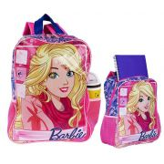Mochila Infantil Costas Escolar Rosa Média Barbie Infantil Menina Original Sestini