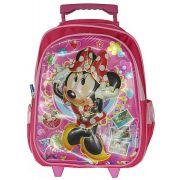 Mochila Minnie Mouse 3D Rodinhas Infantil