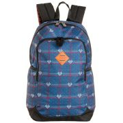 Mochila Feminina Anti Furto Notebook Escolar Sestini Magic Xadrez Azul