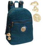 Mochilinha Feminina Snoopy Semax SP4804AZ Bolsa Azul