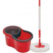 Mop Giratório De Limpeza Balde Com Esfregao 360° Centrifuga Refil Microfibra Mopi Moop Com Dreno Limpa Tira Pó Enxuga Condor