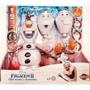 Olaf Monta e Desmonta Brinquedo Infantil 3 Expressões Faciais Adesivos De Flocos De Neve Que Brilham No Escuro + 3 Anos Frozen II Toyng