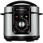 Panela De Pressão Elétrica 5 Litros Botão Fácil Programação 10 Funções Programáveis 110v Aço Inox 900W Cuba Removível Pratic Cook Mondial