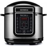 Panela De Pressão Elétrica 5 Lts Display Digital 110V 14 Funções Aço Inox Timer 900w Cuba Removível Master Cooker Mondial