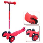 Patinete Infantil Sport Twist 3 Rodas vermelho Freio Estabilidade