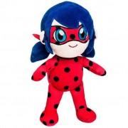 Pelúcia Ladybug Miraculous Brinquedo Criança 32cm Vermelha Fun