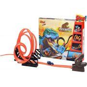 Pista Radical Tiranossauro Rex 4 Loops Infantil Desmontável Carrinho De Fricção Menino Dinossauro Lançamento Zoop Toys Original